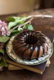 Yummy Schokoladenkuchen stockbild