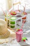 Yummy smoothie with fresh fruits Stock Image