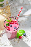 Yummy smoothie with fruits Royalty Free Stock Photos