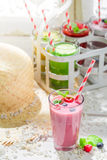 Yummy smoothie with fruits Stock Image