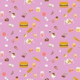 Yummy snacks naadloos patroon Stock Fotografie