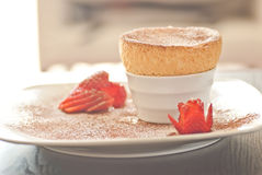 Yummy Souffle  side view Stock Photos
