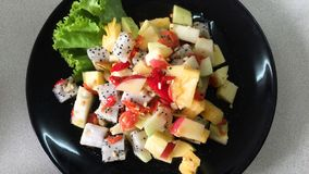 Yummy Spicy Thai Mixed Fruit Salad Stock Images