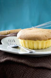 Yummy sponge cake Stock Photos
