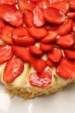 Yummy strawberry cake melting. Stock Photos