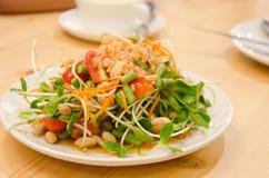 Yummy Sunflower Salad Royalty Free Stock Photos