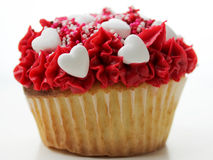 Yummy sweetheart cupcake Stock Photography