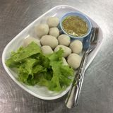 Yummy Thai food. Thailand have many delicious foods. This Thai fish ball is one of them Stock Image