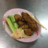 Yummy Thai Food. Thailand have many delicious foods. This Thai sausage is one of them Stock Images