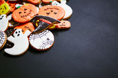 Yummy treats. Symbols of halloween in form of yummy cookies Royalty Free Stock Images