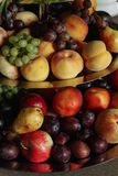 Yummy tropical fresh fruits at luxury stylish decorated table wi Stock Images