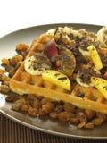 Yummy waffles Stock Photography