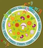 Yummy yummy soep Stock Foto