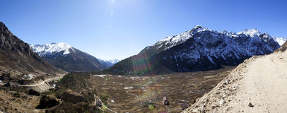 Yumthang valley - North Sikkim Royalty Free Stock Images