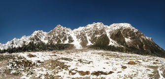 Yumthang valley panorama Royalty Free Stock Photography