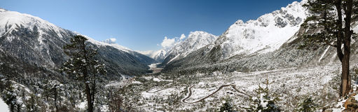 Yumthang valley panorama Stock Image