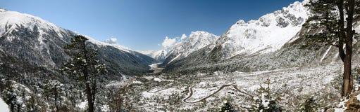 Yumthang valley panorama Stock Image