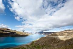 yumtso του Θιβέτ λιμνών yamdrok Στοκ Εικόνες