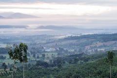 Breathtaking Views in the morning at Yun Lai viewpoint,Pai,Mae Hong Son,Northern Thailand. stock image