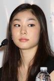 """Yuna Kim de """"na conferência de imprensa toda essa Los Angeles 2010 do patim"""" imagem de stock royalty free"""