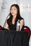 """Yuna Kim de """"na conferência de imprensa toda essa Los Angeles 2010 do patim"""" foto de stock"""