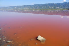 Yuncheng Salt Lake Royaltyfri Bild