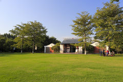 Yundang college, amoy city, china. Yuandang college completed in july 2009,  carry out education outreach activities of multi-level chinese traditional Royalty Free Stock Photo