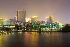 Yundang lake night sight Stock Image