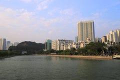 The yundang lake sunset Royalty Free Stock Photography