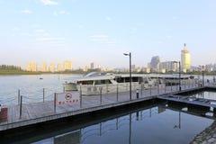 Yundang lake tourist pier Royalty Free Stock Image