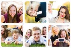 Yung people having fun Stock Image