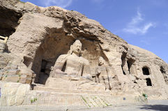 YUNGANG CAVES. One of china's four most famous buddhist caves art treasure houses, is located about sixteen kilometers west of datong, shanxi province stock image