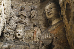 Yungang caves Royalty Free Stock Images