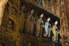 Yungang caves Stock Photography