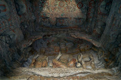 yungang för buddha grottagrottoes Royaltyfri Bild