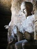 yungang för buddha grottoesstaty Arkivbilder