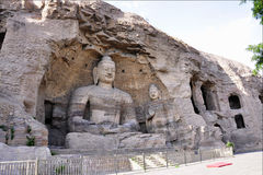 Yungang grottoes Stock Photos