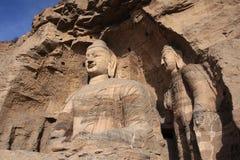 Yungang Grottoes Arkivfoton