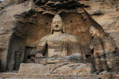 Yungang grottoes Royalty Free Stock Photos