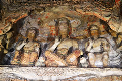 Yungang Grottoes. The Yungang Grottoes are ancient Chinese Buddhist temple grottoes near the city of Datong Stock Images