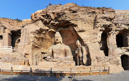 Yungang Grottoes. The Yungang Grottoes are ancient Chinese Buddhist temple grottoes near the city of Datong Stock Photos
