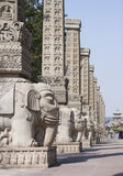 Yungang Grottoes elephant sculptures Stock Photo