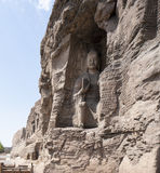 Yungang grottoes picture in Shanxi Province 02. Yungang grottoes in shanxi Buddha images Royalty Free Stock Photo