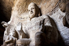 Yungang grottoes picture in Shanxi Province 03. Yungang grottoes in shanxi Buddha images Stock Image