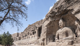 Yungang grottoes picture in Shanxi Province 04. Yungang grottoes in shanxi Buddha images Royalty Free Stock Photos