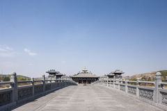 The Yungang Grottoes pictures. The entrance of Yungang Grottoes temple Royalty Free Stock Photo