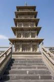 Yungang grottoes stupa. Pagoda built in the datong yungang grottoes Stock Images