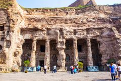 Yungang grottor Arkivfoto