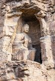 Yungang grottor Royaltyfri Foto