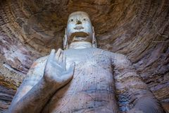 Yungang grottor Royaltyfria Bilder